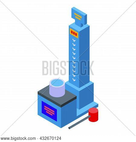 Hammer Test Game Icon Isometric Vector. Boxing Power. Electric Striker