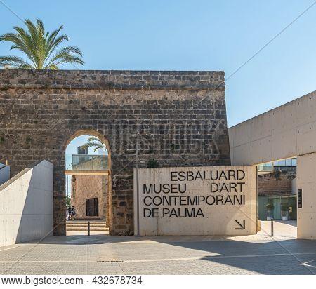 Palma De Mallorca, Spain; September 10 2021: Main Entrance To Es Baluard Museum Of Contemporary Art