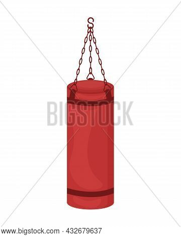 Sports Punching Bag, For Training In The Gym. Sports Simulator For Sports Activities. A Bag For Boxi