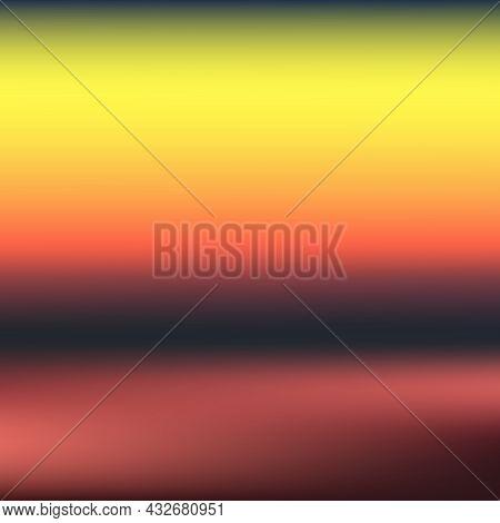 Sunset Gradient Background. Color Sunset Backdrop. Sunrise Wallpaper. Vector