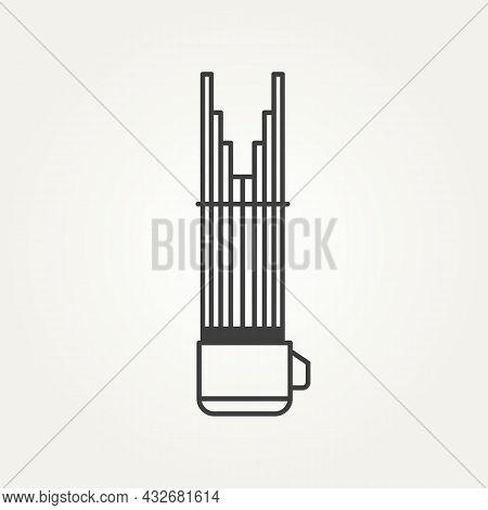 Sho Japanese Classical Music Instrument Minimalist Line Art Logo Icon Template Vector Illustration D