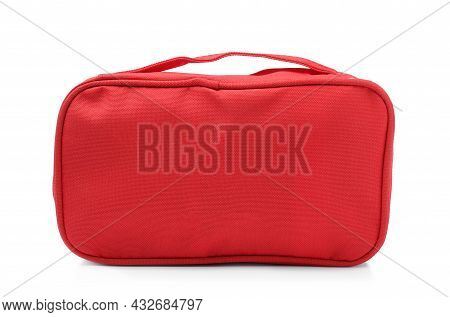 First Aid Kit Isolated On White. Health Care
