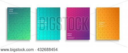 Set Of Bright Colorful Creative Covers, Templates, Posters, Placards, Brochures, Banners, Flyers And