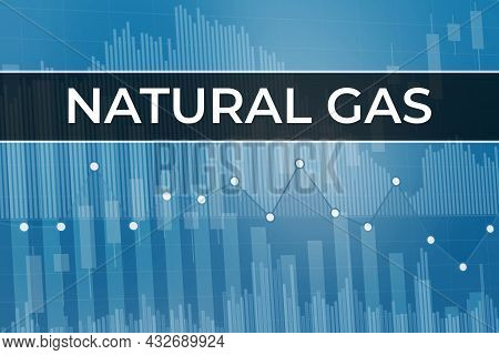 Price Change On Natural Gas Futures (ticker Ng) In World On Blue Financial Background From Numbers,