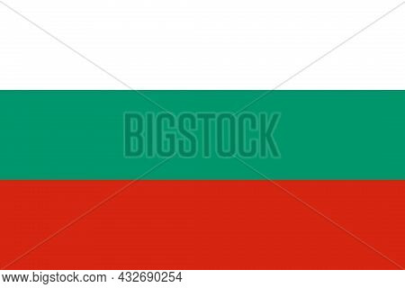The National Flag Of Bulgaria In Europe