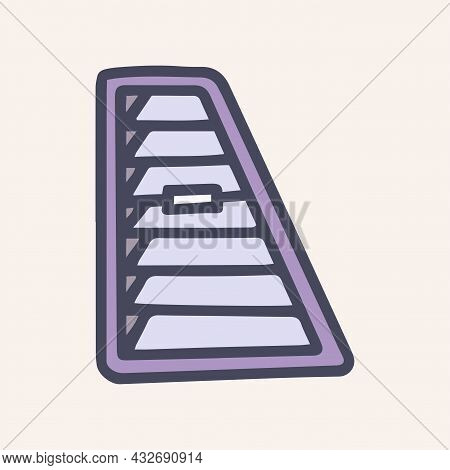 Ventilation Grill For Car Color Vector Doodle Simple Icon