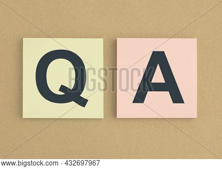 Qa Concept. Qna Acronym. Questions And Answers.