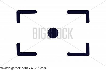 Viewfinder Camera Frame Vector Icon Isolated On White Background For Screen Photography Frame For Vi