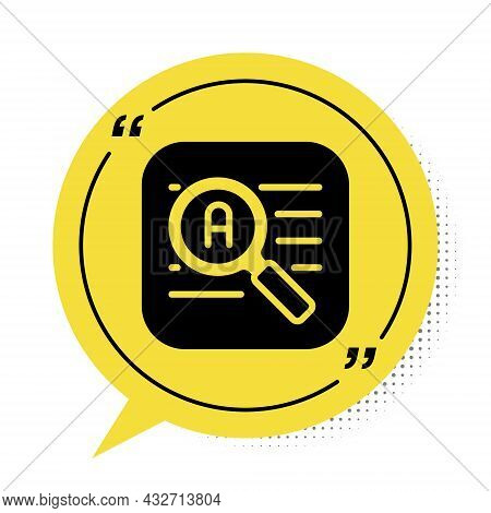 Black Translator Icon Isolated On White Background. Foreign Language Conversation Icons In Chat Spee