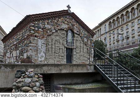 Sofia, Bulgaria - December 03, 2014: Medieval Bulgarian Orthodox Church