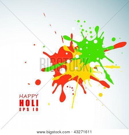 Indian colorful festival Holi celebration background with colors splash. EPS 10. poster