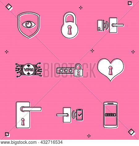 Set Shield And Eye, Lock, Digital Door Lock With Wireless, Vpn Microchip Circuit, Password Protectio