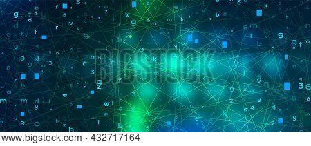 Futuristic Digital Technology Vector Background. Cyber Attack, Ransomware, Malware, Scareware Concep