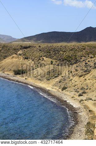 Cala Violeta Beach In Isleta Del Moro Village In Cabo De Gata, Almeria, Spain