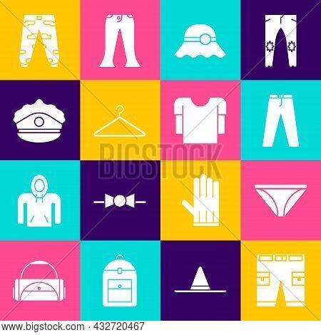 Set Short Or Pants, Men Underpants, Pants, Elegant Women Hat, Hanger Wardrobe, Police Cap With Cocka