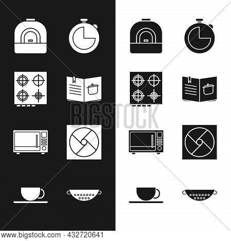 Set Cookbook, Gas Stove, Oven, Kitchen Timer, Microwave Oven, Ventilation, Colander And Coffee Cup I