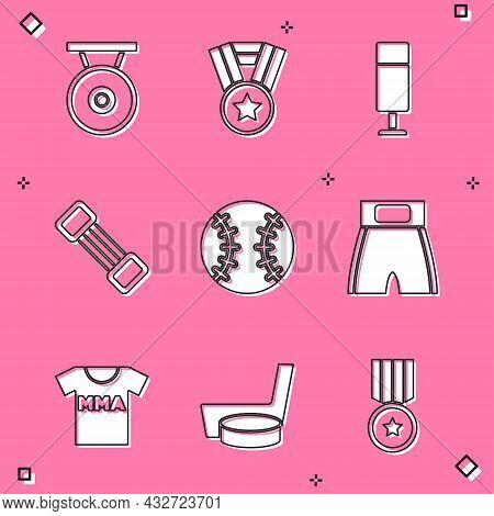 Set Gong, Medal, Punching Bag, Chest Expander, Baseball Ball, Boxing Short, T-shirt With Fight Club
