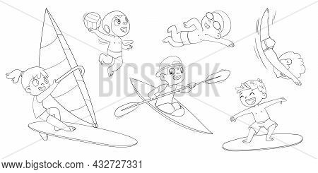Water Sports With Children. Surfing. Swimming. Water Polo. Canoeing And Kayaking. Sailing. Diving. C