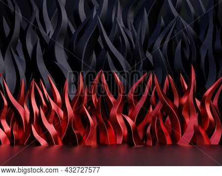 Black Friday Concept Abstract Background With Red And Black Flame Concept 3d Render Illustration