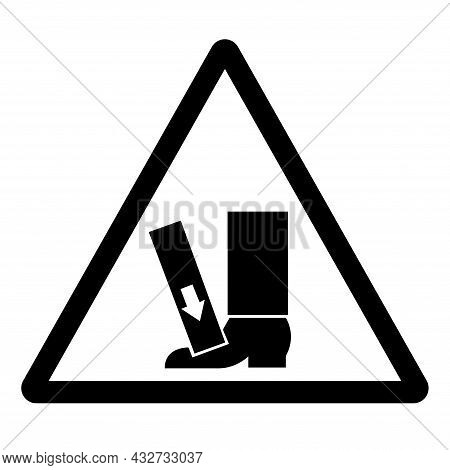 Foot Crush Force From Above Symbol Sign, Vector Illustration, Isolate On White Background Label .eps