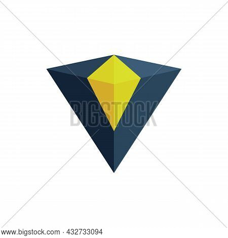 Abstract Letter V Diamond Logo Icon Flat Vector Concept Graphic Simple Stylish Design