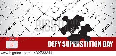 Card For Event September Day Defy Superstition Day