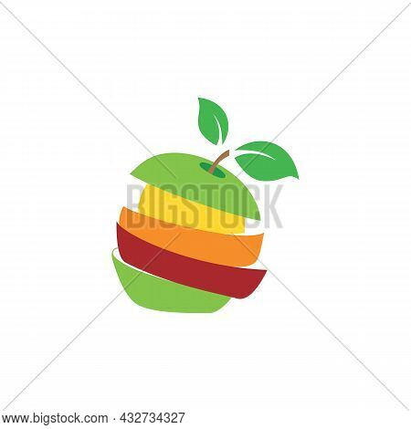 Stylish Apple Logo Icon Flat Vector Concept Graphic Simple Stylish Design