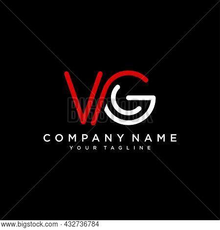 Initial Letter Logo Vg. Company Logo. Monogram Design. Letters V And G.