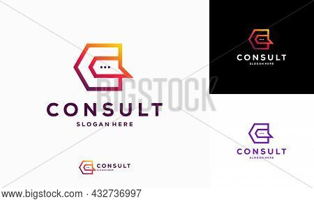 Modern Gradient Consulting Agency Logo Template Designs, Simple Elegant Consult Logo Template