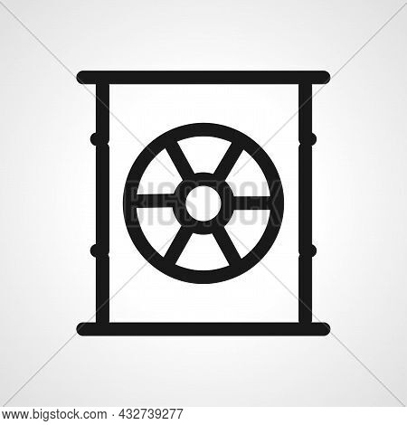 Toxic Container Vector Line Icon. Toxic Container Linear Outline Icon.