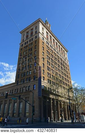 San Jose, Ca, Usa - Mar. 12, 2014: Bank Of Italy Building Was Built In 1925 With Renaissance Style A