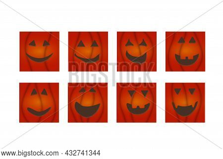 Halloween Pumpkin Face Jack -o- Lantern Greeting Cards.