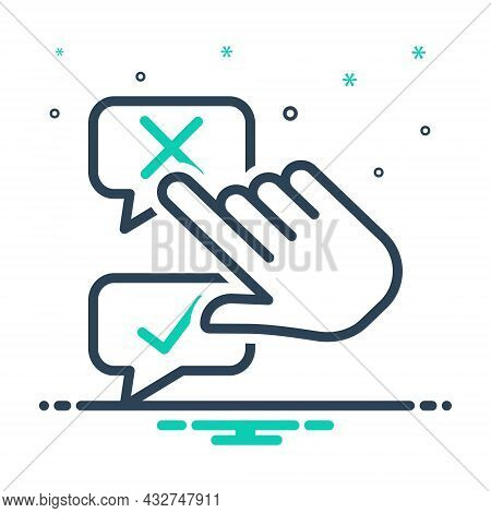 Mix Icon For Disagree Negative Positive Accept Agree Approve Confirm Agree Choice Choose