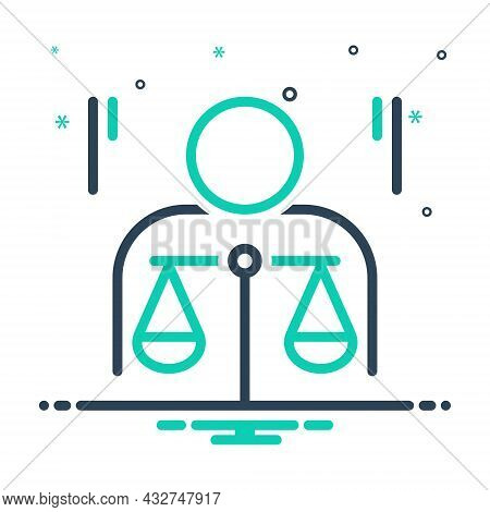Mix Icon For Ethics Morality Politics Principle Law Justice Balance Honorable