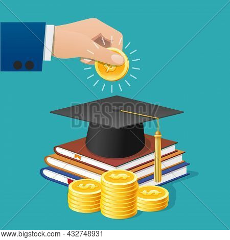College Investment. School Or University Education Money Invest, Study Business Investing, Finance S