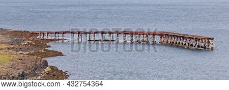 Details (old Pier) Of An Abandoned Naval Base On Iceland (hvítanes, Hvalfjördur)