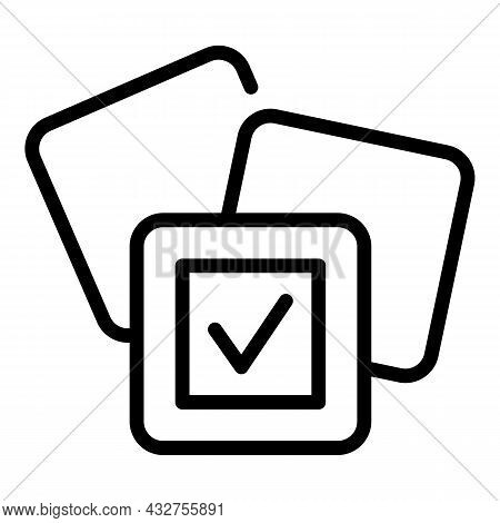 To Do Challenge Icon Outline Vector. Pictogram Purpose. Success Notebook