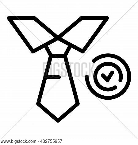 Approved Manager Icon Outline Vector. Document Check. Business Approve