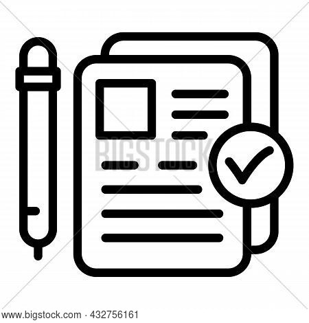Manager Papers Icon Outline Vector. Paper Document. Management Information
