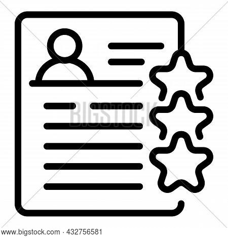 Rating Cv Icon Outline Vector. Recruit Template. Company Job