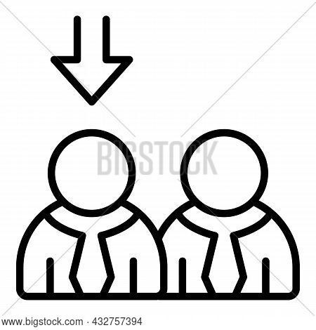 Seeking Job Icon Outline Vector. Search Employee. Company Business
