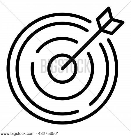 Arch Target Icon Outline Vector. Archery Aim. Game Archer