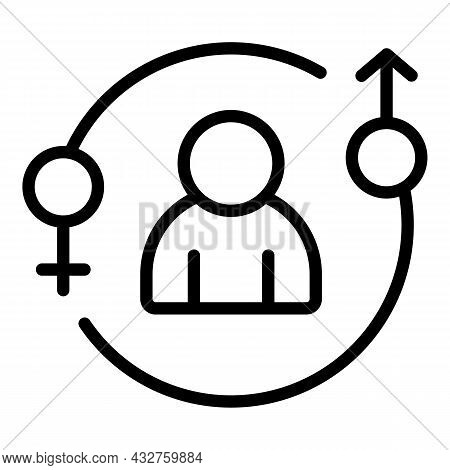 Gender Parity Icon Outline Vector. Equal Career. Social Stereotype