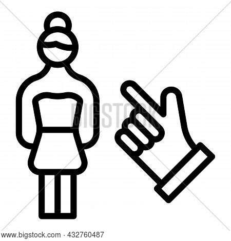 Social Woman Prejudice Icon Outline Vector. Identity Discrimination. Feminism Equality
