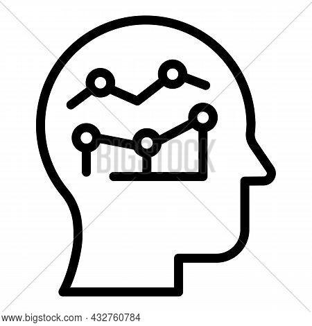 Brain Insight Icon Outline Vector. Mind Brainstorm. Think Problem