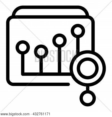 Explore Diagram Icon Outline Vector. Data Research. Search Index