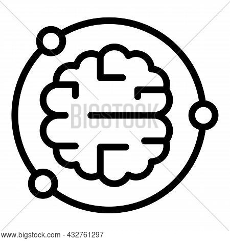 Brain Discover Icon Outline Vector. Key Curiosity. Insight Game
