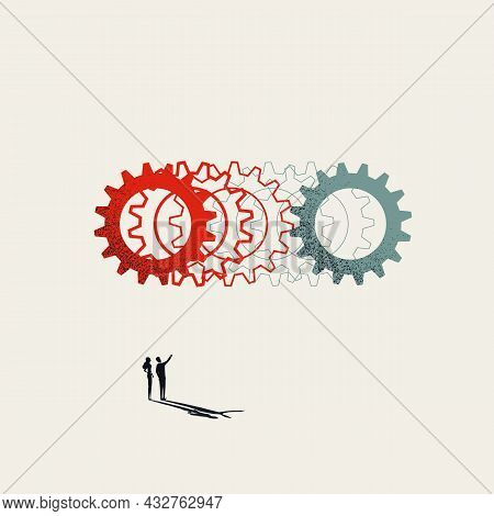 Business Process And Workflow Transformation, Vector Concept. Symbol Of New Technology, Innovation.