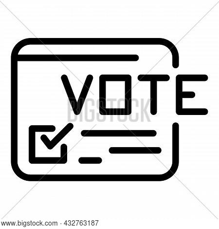 Election List Icon Outline Vector. Vote Poll. Online Survey