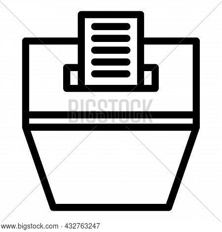 Polling Box Icon Outline Vector. Ballot Poll. Election Vote